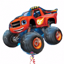 Blaze Monster Truck Large Foil Balloon 1pc